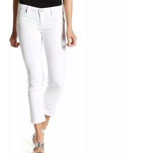Hudson Barack Cuff Straight Crop Jeans Warlike 25